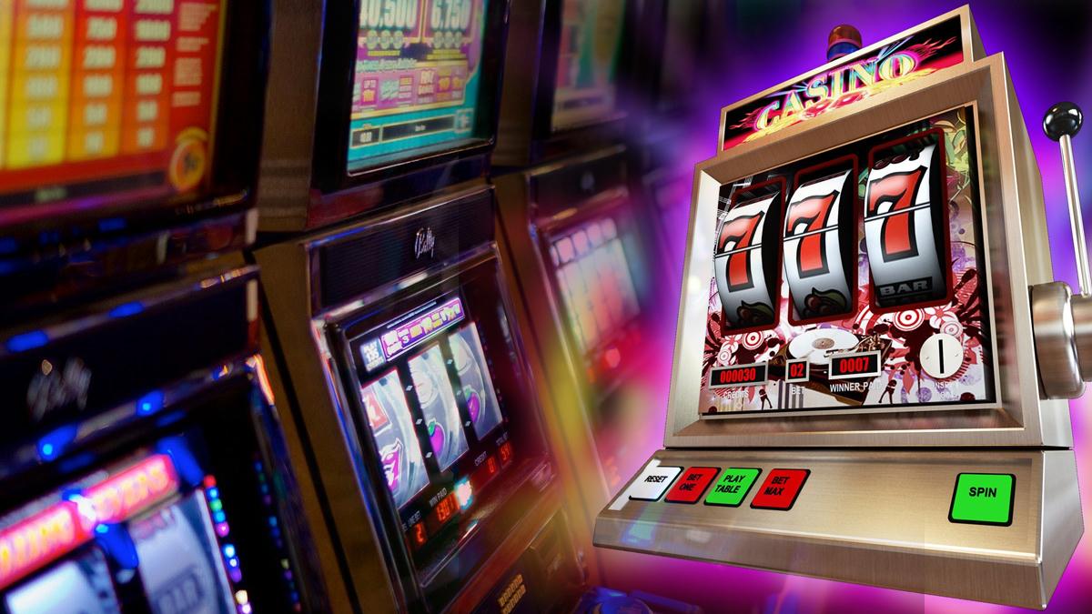 Slot machines animated